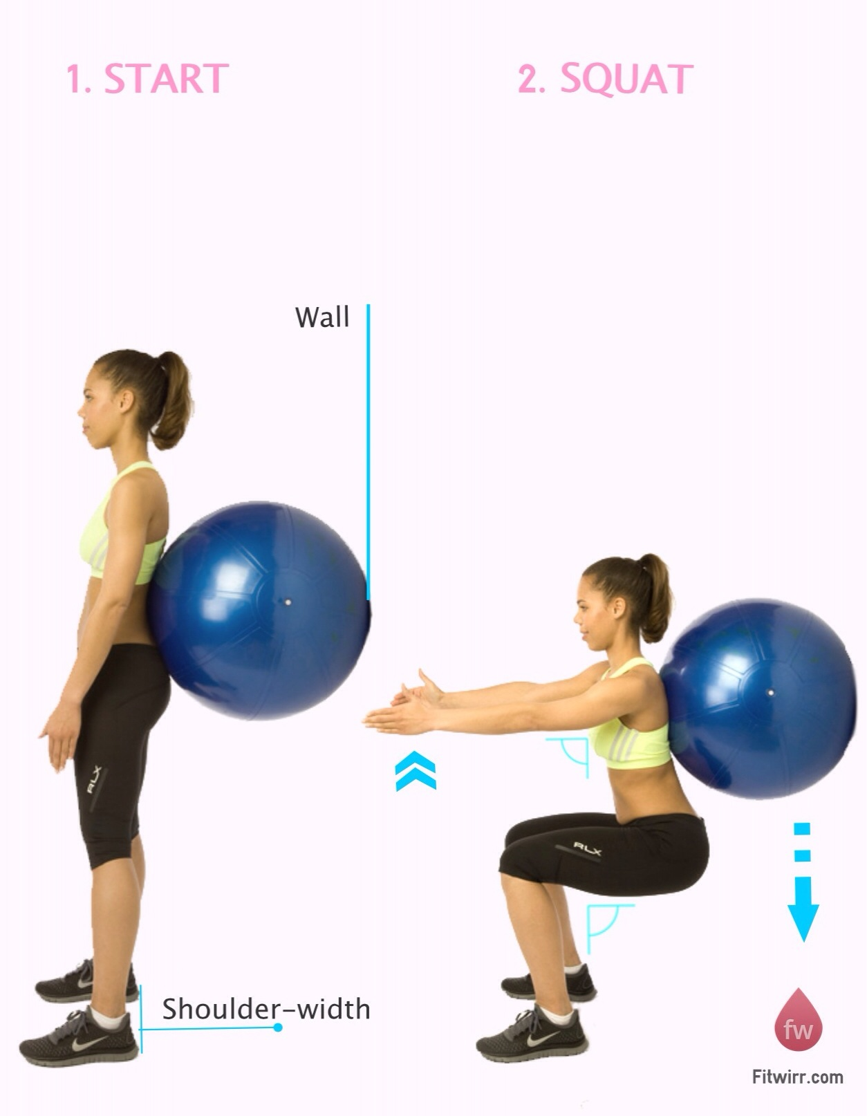 Watch How to Do an Exercise Ball Squat video